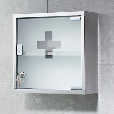 Gedy Square Lockable Medicine Cabinet - 300 x 300mm