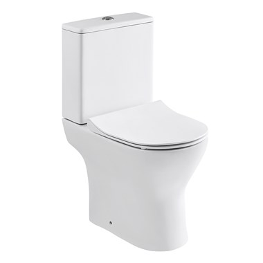 Harbour Acclaim Close Coupled Compact Toilet & Soft-Close Thin Seat