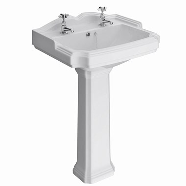 Jay 600mm Basin & Full Pedestal