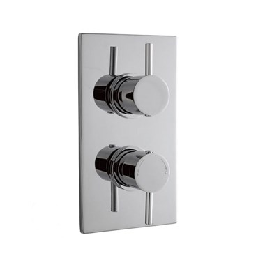 nuie Pioneer Twin Concealed Thermostatic Shower Valve - Round Handles