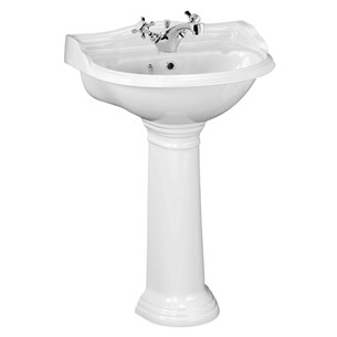Junco 1 Tap Hole 600mm Basin & Full Pedestal