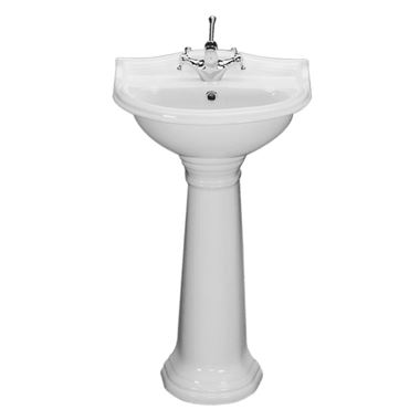Junco 2 Tap Hole 500mm Basin & Full Pedestal