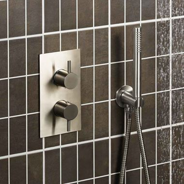 Just Taps Inox Concealed Thermostatic 2 Outlet Valve