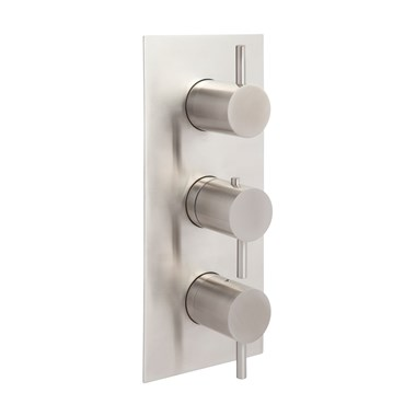 Just Taps Inox Concealed Thermostatic 3 Outlet Valve