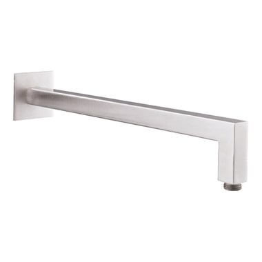 Just Taps Inox Square Wall Shower Arm - 400mm