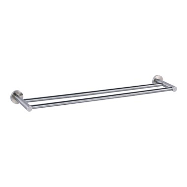 Just Taps Inox Wall Mounted Twin Towel Rail