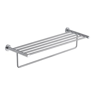 Just Taps Inox Wall Mounted Towel Shelf with Rail