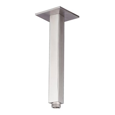 Just Taps Inox Square Ceiling Shower Arm - 200mm