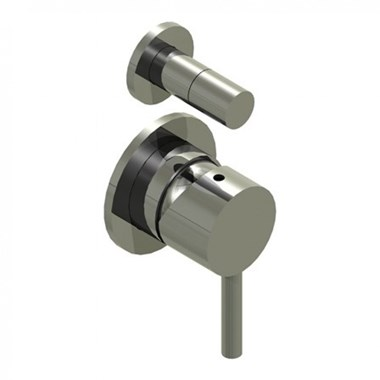 Inox Brushed Stainless Steel Concealed Shut Off Valve with 2-Way Diverter