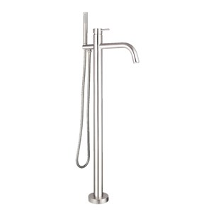 Just Taps Inox Floor Mounted Bath Shower Mixer with Kit