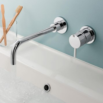 Crosswater Kai Lever Wall Mounted Basin 2 Hole Set