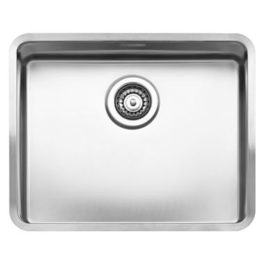 Reginox Kansas 50 x 40 Single Bowl Stainless Steel Undermount Kitchen Sink & Waste