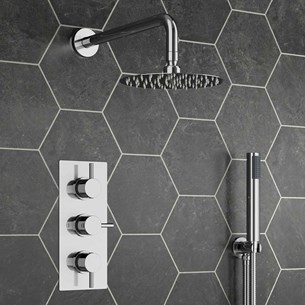 Kanto Concealed Shower Valve with Fixed Shower Head & Handset
