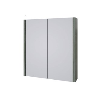 Drench Gregory 750mm Mirror Cabinet - Grey Ash