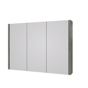 Drench Gregory 900mm Mirror Cabinet - Grey Ash