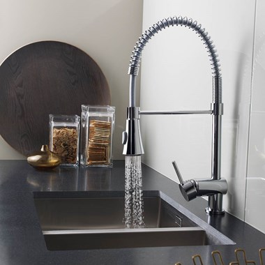 Premier Side Action Pullout Spray Kitchen Sink Mixer Tap