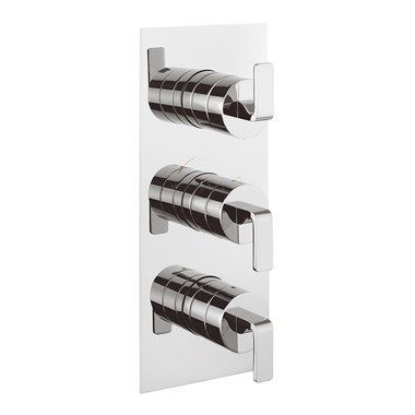 Crosswater KH Zero 1 Thermostatic Shower Valve With 3 Control and 3 Way Diverter
