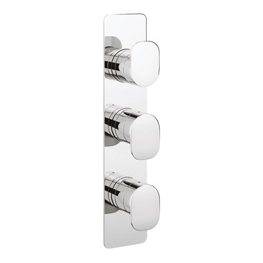 Crosswater KH Zero 2 Thermostatic Shower Valve 3 Control - Portrait