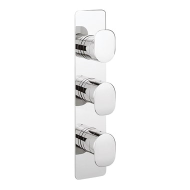 Crosswater KH Zero 2 Thermostatic Shower Valve 3 Control With 3 Way Diverter - Portrait