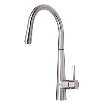 Mayfair Palazzo Brushed Nickel Kitchen Sink Mixer Tap with Pull Out Spray