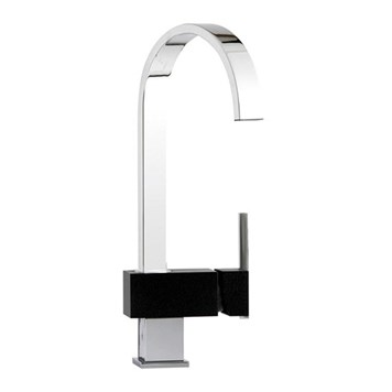 Mayfair Edge Mono Kitchen Mixer - Black/Chrome