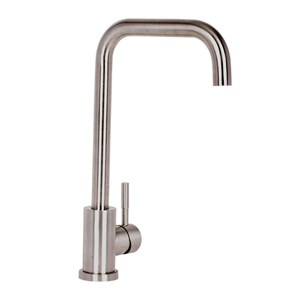 Mayfair Axel Single Lever Mono Kitchen Mixer - Stainless Steel