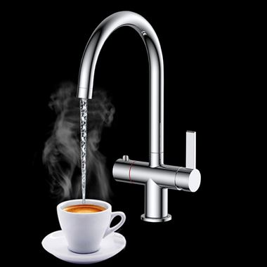 Vellamo Cappa Instant Hot and Cold Boiling Tap with WRAS-Approved Boiler & Filter Unit - Chrome