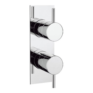 Crosswater Kai Lever Concealed Thermostatic Shower Valve with Slim Backplate