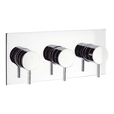 Crosswater Kai Lever Concealed Thermostatic Shower Valve 3 Control (Landscape)