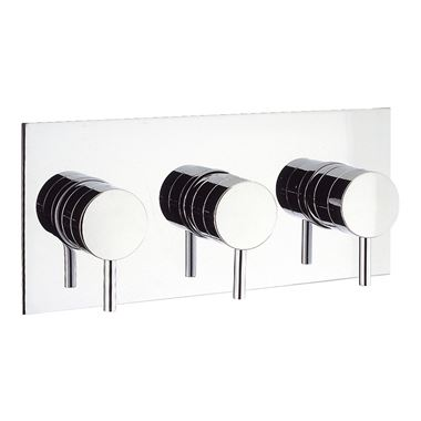 Crosswater Kai Lever Concealed Thermostatic Shower Valve with 3 Way Diverter (Landscape)