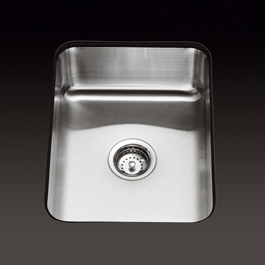 Kohler Icerock 356mm Single Bowl Brushed Steel Undermount Sink