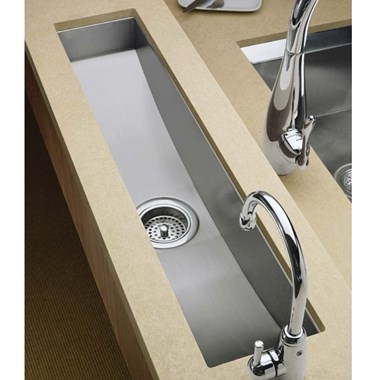 Kohler Icerock Trough 787mm 1 Bowl Brushed Steel Undermount Sink