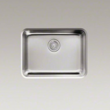 Kohler Icerock 540 x 400 x 241mm Single Bowl Brushed Steel Undermount Sink