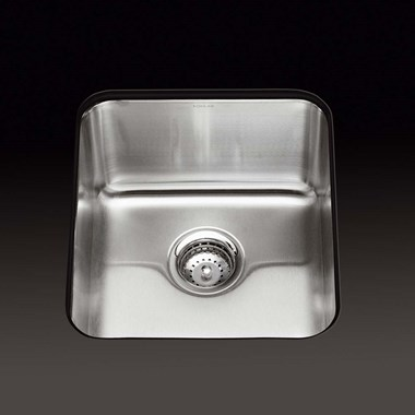 Kohler Icerock 356 x 400 x 244mm Single Bowl Brushed Steel Undermount Sink