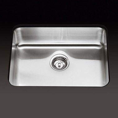 Kohler Icerock 540 x 400 x 191mm Single Bowl Brushed Steel Undermount Sink