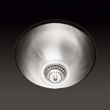Kohler Icerock 346mm Round Single Bowl Brushed Steel Undermount Sink