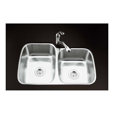 Kohler Icerock 1.75 Bowl Brushed Steel Undermount Sink