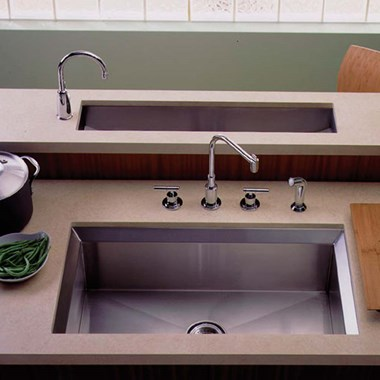 Kohler Poise 838mm Single Bowl Brushed Steel Undermount Sink