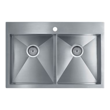 Kohler Vault Double Equal Bowl Brushed Steel Undermount Sink