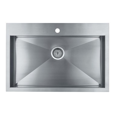 Kohler Vault Large Single Bowl Brushed Steel Undermount Sink