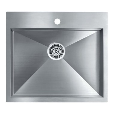 Kohler Vault Medium Single Bowl Brushed Steel Undermount Sink