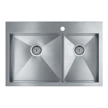 Kohler Vault Double Bowl Brushed Steel Undermount Sink