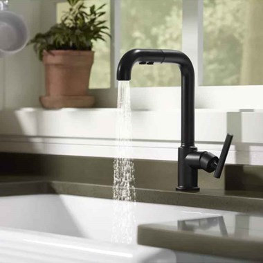 Kohler Purist Single Lever Monobloc Mixer with Swivel Spout