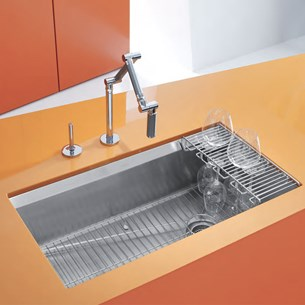 Kohler 8 Degree Professional 1 Bowl Brushed Stainless Steel Undermount Sink - 838 x 457mm