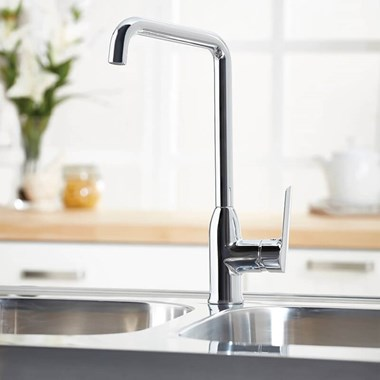 Harbour Single Lever Mono Kitchen Mixer - Chrome