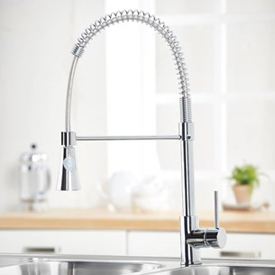 Harbour Pull Out Mono Kitchen Mixer - Chrome