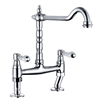 Butler & Rose Carlton Traditional Polished Chrome Kitchen Bridge Mixer and Complete Filter Kit