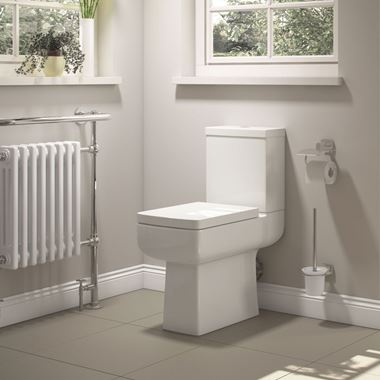 Vellamo Kube Comfort Height Close Coupled Toilet with Cistern & Soft Close Seat