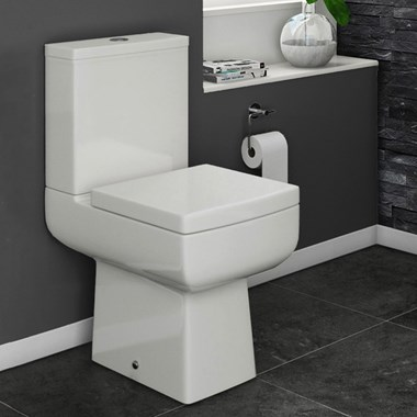 Vellamo Kube Close-Coupled Toilet with Luxury Soft-Close Seat