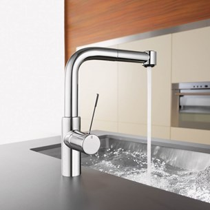 KWC Ono Single Lever Mono Sink Mixer With JETCLEAN Pull Out Spray
